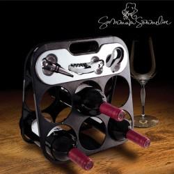 Range-bouteilles avec accessoires